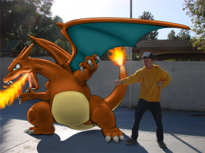 "Luke's innovative 2.5D! ""Quin and his Charizard"""